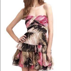 Beautiful chiffon ruffled strapless dress